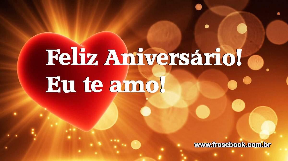 Feliz aniversário - eu te amo