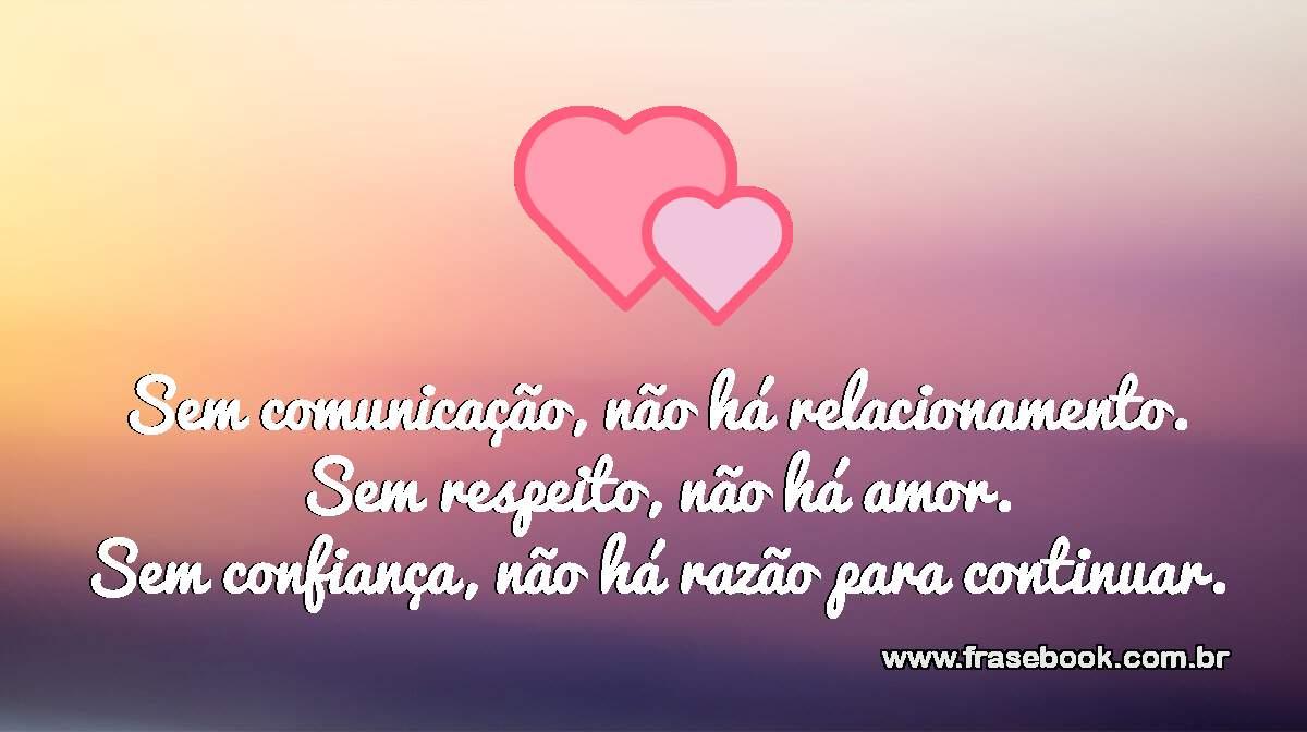 Sem respeito não há amor